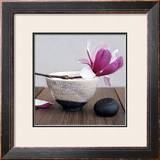 Magnolia and Bowl Print by Amelie Vuillon
