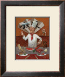 Teppan, Japanese Chef Framed Giclee Print by John Howard