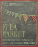 County Flea Market Poster by Mandy Lynne
