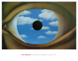 The False Mirror Poster by Rene Magritte