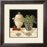 Strawberry Still Life Print by Charlene Winter Olson