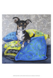 Chihuahua Pillows II Print by Carol Dillon