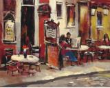 Sidewalk Café Print by Brent Heighton