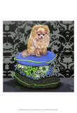 Pomeranian Pillows Print by Carol Dillon