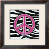Zebra Peace Print by Louise Carey