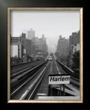 Next Stop Harlem Print by Ellen Fisch