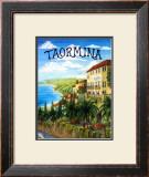 Taormina, Sicily, Italy Framed Giclee Print by Caroline Haliday