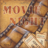 Movie Night Poster by Kim Lewis