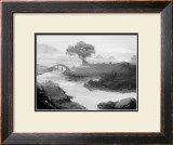 Indian-Ink Drawing of Japan Framed Giclee Print by Kyo Nakayama
