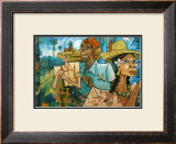 Cubist Fruits of Latin Labor Framed Giclee Print by Charles Glover