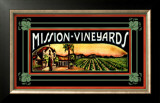 Mission Vineyard Framed Giclee Print