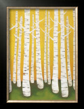 Autumn Birches Art by Lisa Congdon