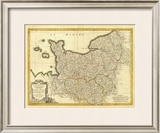 Normandie, Maine, Perche, c.1791 Framed Giclee Print by Rigobert Bonne