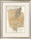 New York: Warren, Saratoga, Washington Counties, c.1895 Framed Giclee Print by Joseph Rudolf Bien