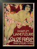 Parfum Liane Fleurie, Sauze Freres Framed Giclee Print by Leopoldo Metlicovitz