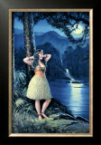 Romantic Hula Girl Prints
