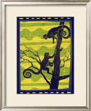 Woodblock Monkeys Prints by Benjamin Bay