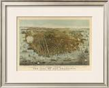 San Francisco Birds Eye View, c.1878 Framed Giclee Print by Charles R. Parsons