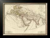Monde Connu des Anciens, c.1821 Framed Giclee Print by Adrien Hubert Brue