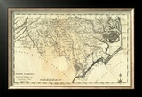 State of North Carolina, c.1795 Framed Giclee Print by Mathew Carey