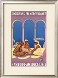 Hamburg Amerika Linie, Croisieres en Mediterranee Posters by Ottomar Anton