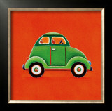 Green Car Prints by Simon Hart