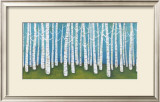 Springtime Birches Print by Lisa Congdon