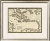Iles Antilles ou des Indes Occidentales, c.1828 Framed Giclee Print by Adrien Hubert Brue
