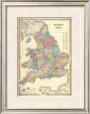 England and Wales, c.1856 Framed Giclee Print by G. W. Colton