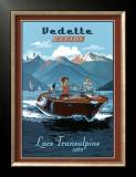 Vedette Rapide, Lacs Transalpins Print by Bruno Pozzo