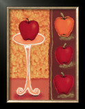 Red Apples II Posters by Monica Ibanez