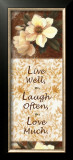 Live, Laugh, Love Posters by T. C. Chiu