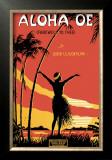 Aloha Oe Music Sheet Print by  LeMorgan