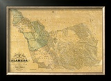 The County of Alameda California, c.1857 Framed Giclee Print by Horace A. Higley