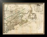 General Map of the Northern British Colonies in America, c.1776 Framed Giclee Print by Robert Sayer