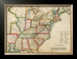 United States, c.1820 Framed Giclee Print by John Melish