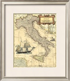 Italy Map Prints