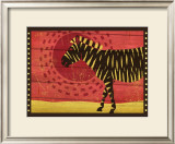 Woodblock Zebra Art by Benjamin Bay