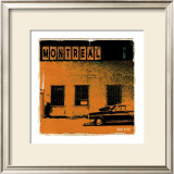 Montreal Vice City in Orange Prints by Pascal Normand