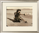 Dance of the Turtle, Hula Girl Print by Alan Houghton
