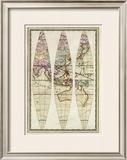 Globo Terrestre III, c.1792 Framed Giclee Print by Giovanni Maria Cassini