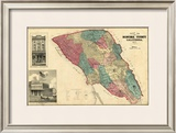 Map of Sonoma County California, c.1877 Framed Giclee Print by Thos. H. Thompson