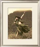 Primitive Hula, Hula Girl Print by Alan Houghton
