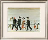 On the Promenade Poster by Laurence Stephen Lowry
