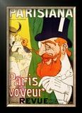 Parisiana, Paris Voyeur Framed Giclee Print by J. Saunier