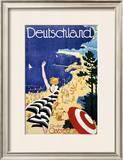 Deutschland, An der Ostsee Framed Giclee Print by Leonhard F. W. Fries