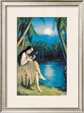 Hula Moon Posters