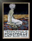 Teppichhaus Forster & Co Framed Giclee Print by Burkhard Mangold