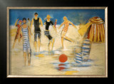 Beach Games Poster by Marie Versailles