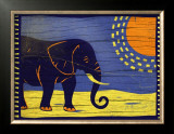Woodblock Elephant Prints by Benjamin Bay